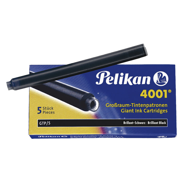 Pelikan Giant Fountain Pen Ink Cartridge blue-black