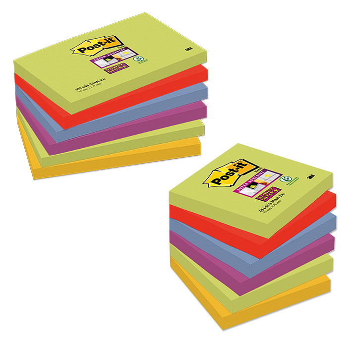 Post-it Self-adhesive notes Super Sticky Marrakech Sticky Rainbow