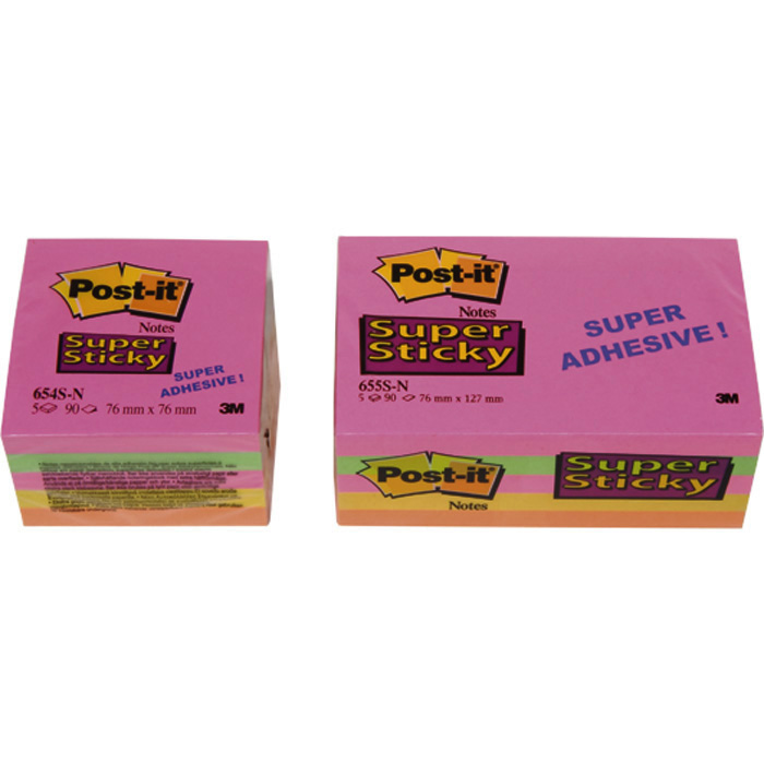 Post-it Self-adhesive notes Super Sticky Rainbow