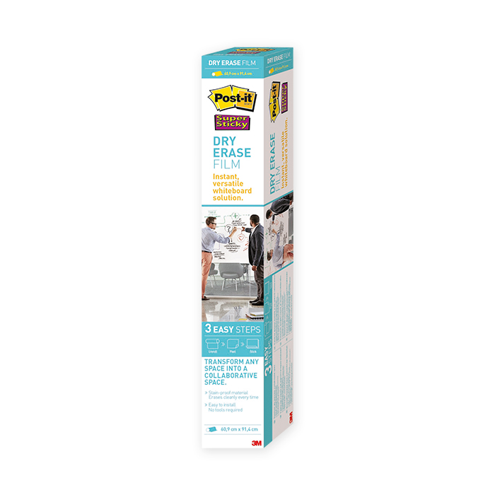 Post-it Super Sticky Dry Erase Whiteboard Foil
