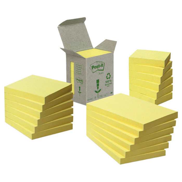Post-it self-adhesive notes Green Notes yellow