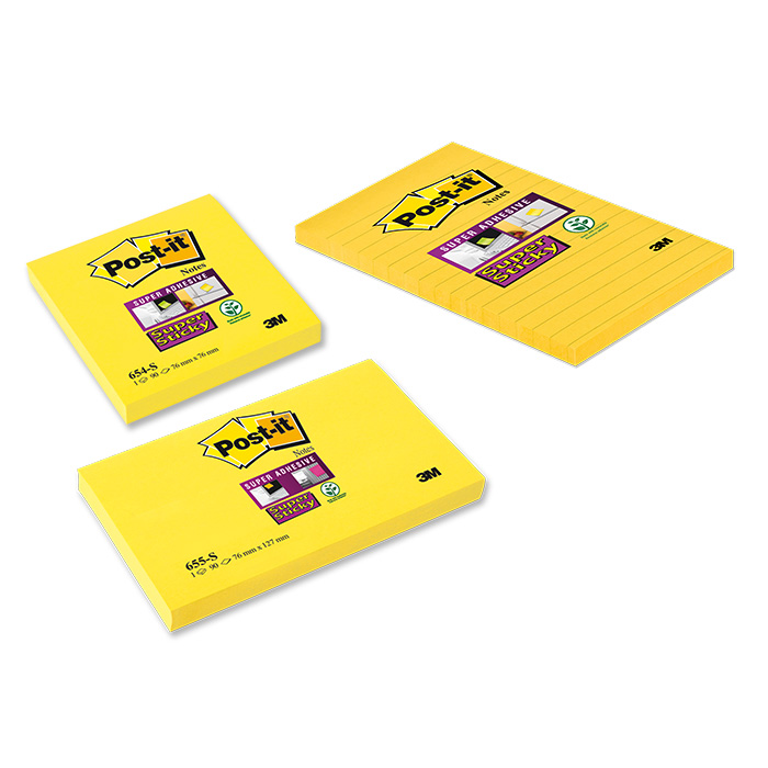 Post-it self-adhesive notes Super Sticky yellow
