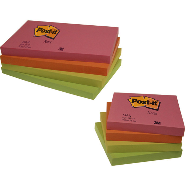 Post-it self-adhesive notes neon colours