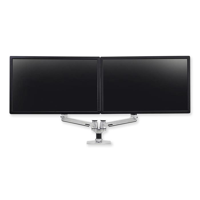 Braccio per doppio monitor Ergotron LX argento
