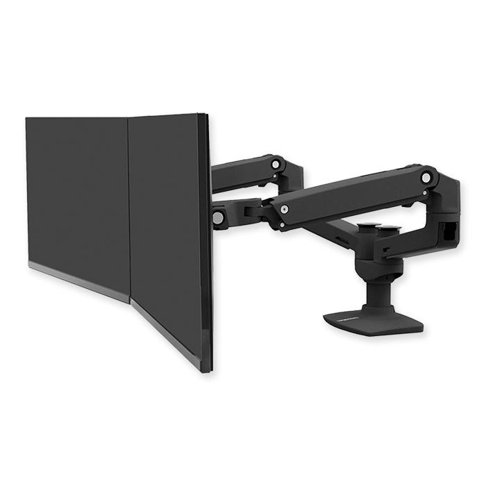 Braccio per doppio monitor Ergotron LX nero