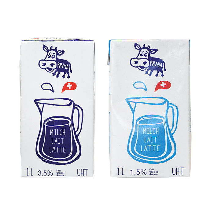 Prima Milch UHT, Tetra Pack