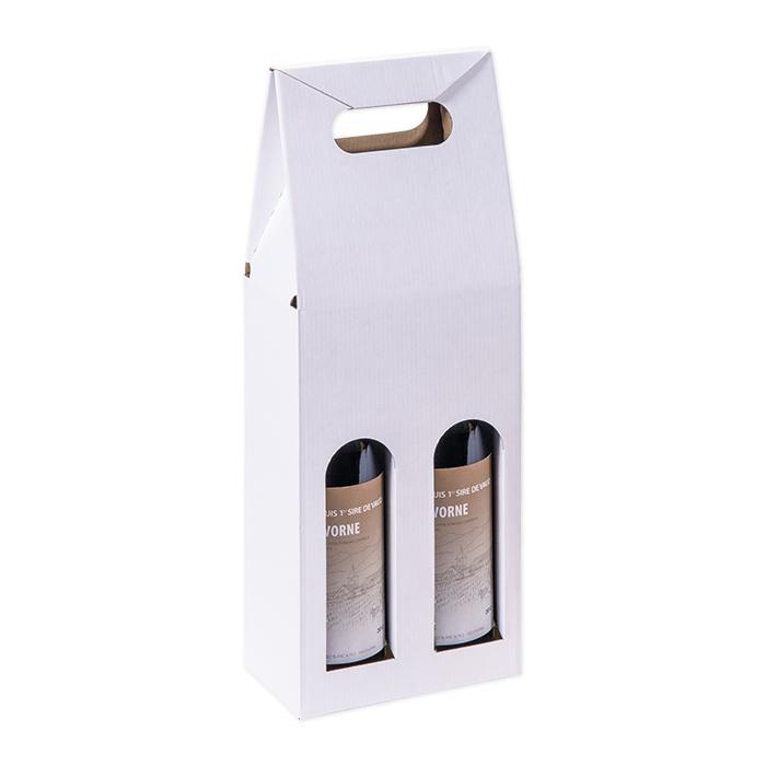 Brieger Tragverpackung für Wein für 2 Flaschen, 162 x 81 x 370 mm