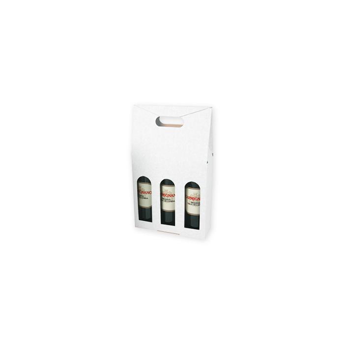 Brieger Tragverpackung für Wein für 3 Flaschen, 243 x 81 x 370 mm
