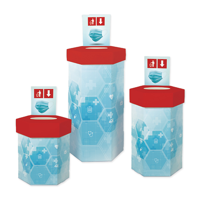 Sammelbox für Hygienemasken 60 Liter