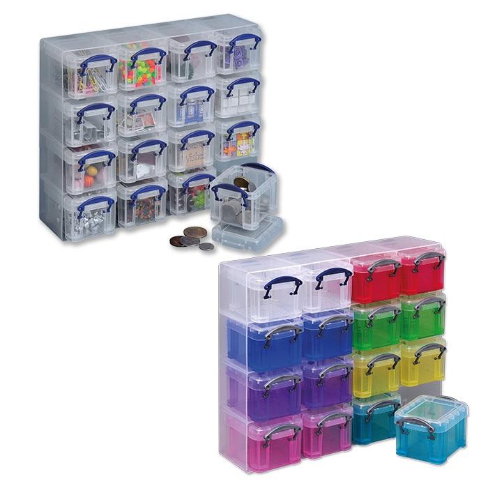 Really Useful Organiser Set 16 Plastic Boxes
