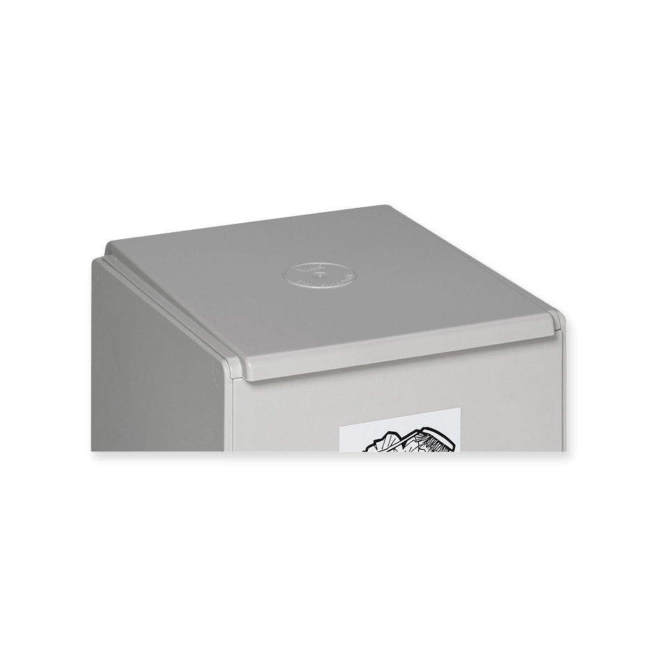 Lid for recyclables collection box light-grey