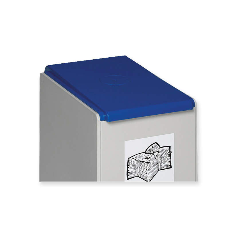 Lid for recyclables collection box blue