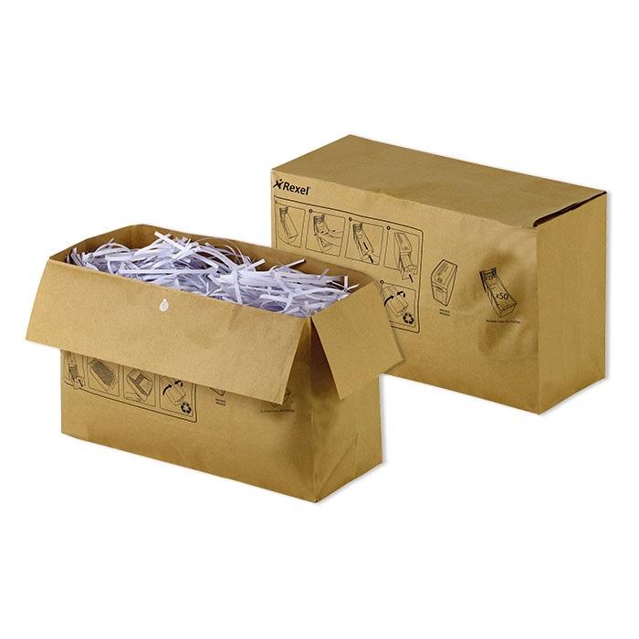Rexel Recycelbare Aktenvernichter-Abfallsäcke Papier 32 Liter, für Auto+ 200X