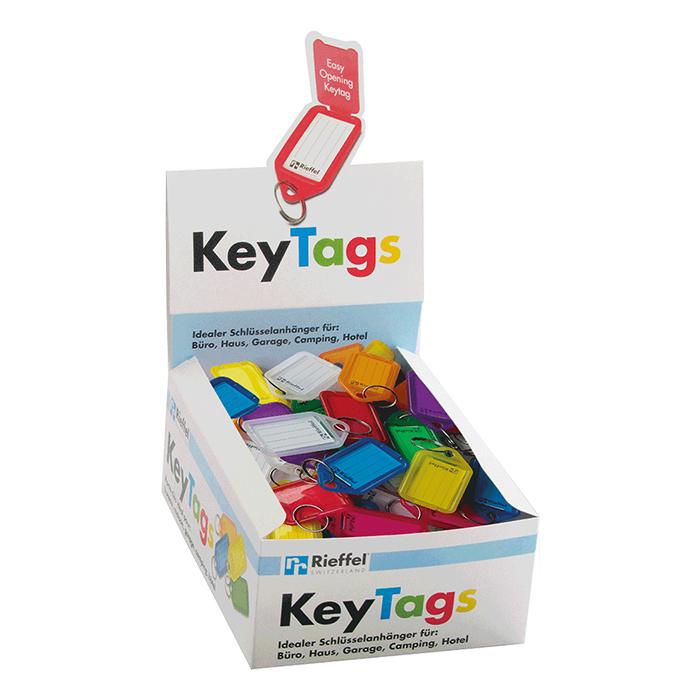 Rieffel Porte-clés KeyTag 100 étiquettes sans support, assortie