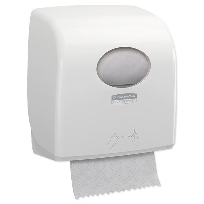 distributeur d'essuie-mains en rouleau Aquarius Slimroll blanc