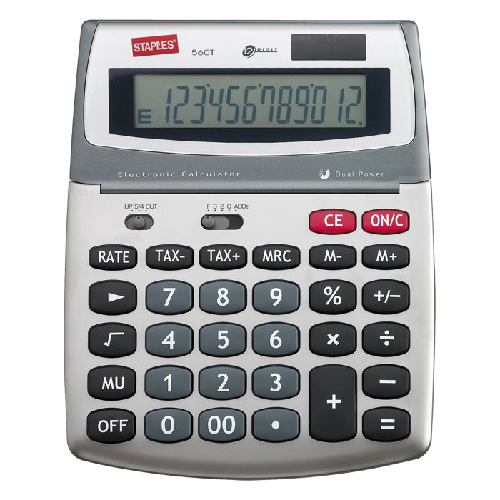 Desktop calculator not printing