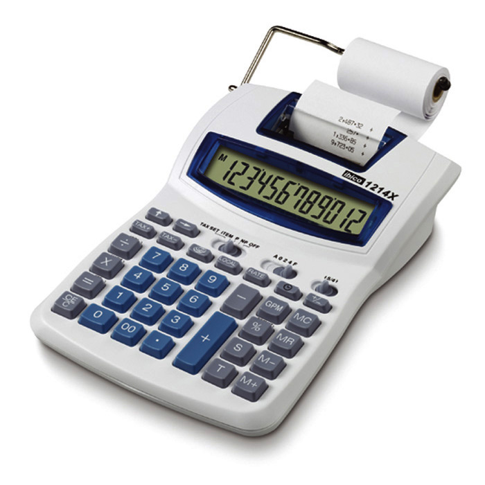 Printing table-top calculator