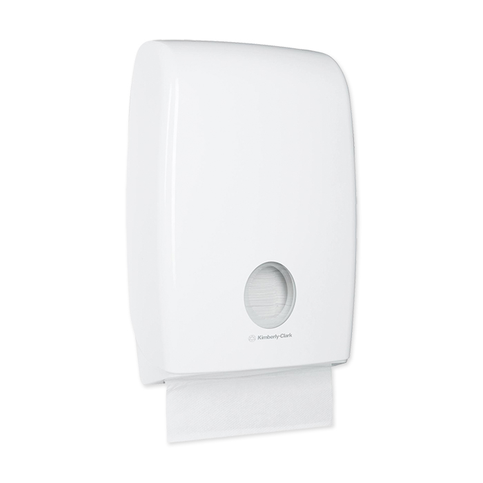 Distributore di salviette Acquarius multifold bianco, 45,1 x 29,4 x 12 cm