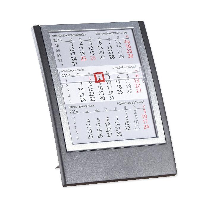 saturex 3 monate tischkalender anthrazit silber online bestellen schoch v gtli. Black Bedroom Furniture Sets. Home Design Ideas