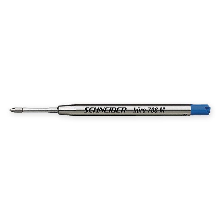 Schneider Ballpoint pen cartridge Office 708 medium, black