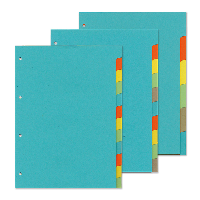 office focus Plain tabs dividers 5 - tabs
