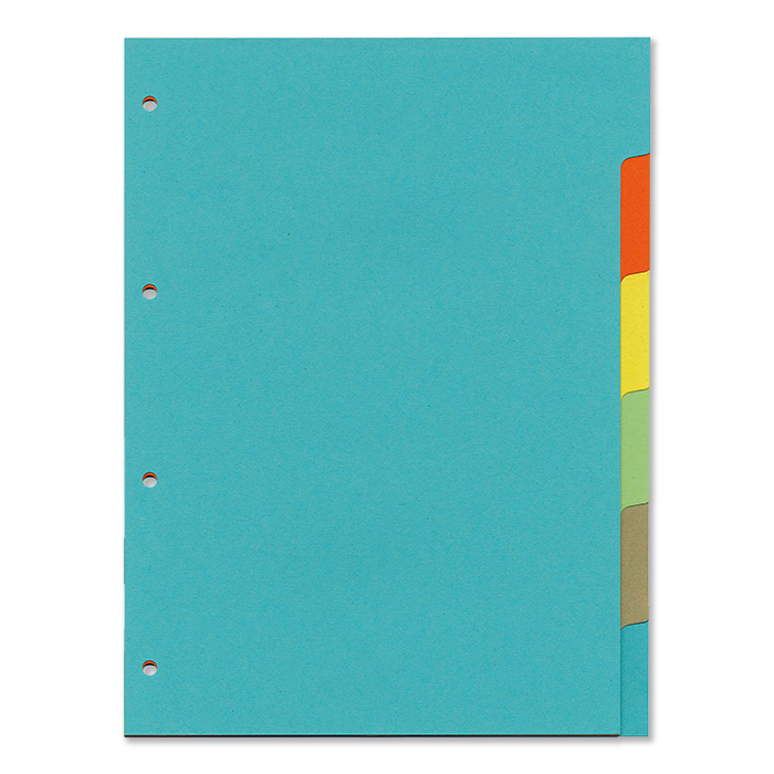 office focus Plain tabs dividers 6 - tabs