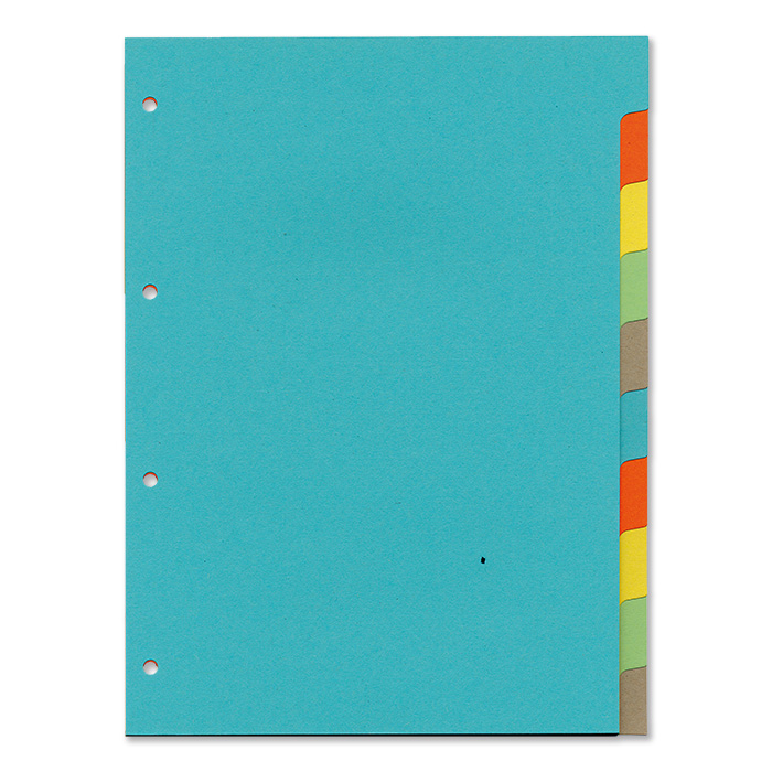 office focus Plain tabs dividers 10 - tabs