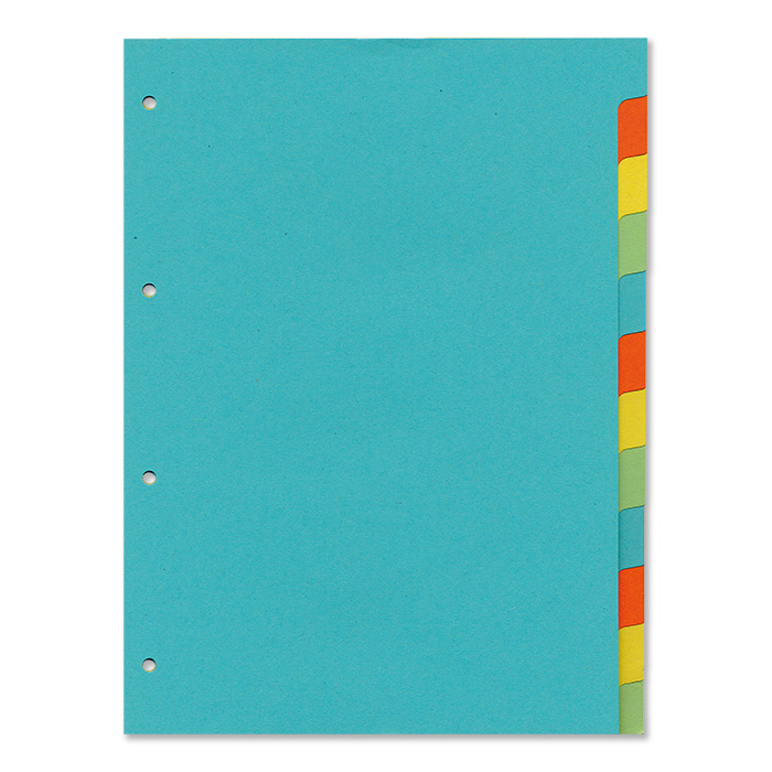 office focus Plain tabs dividers 12 - tabs