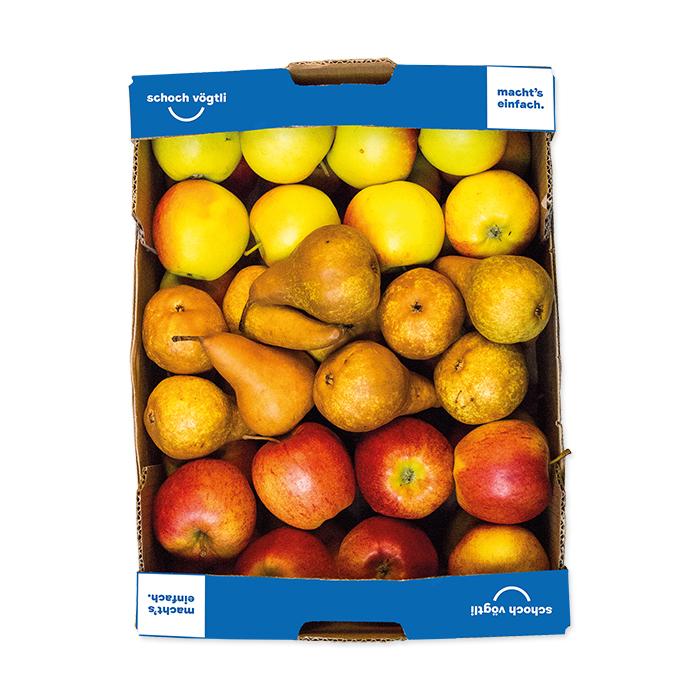 Schoch Vögtli 3p cassetta di frutta mela, pera