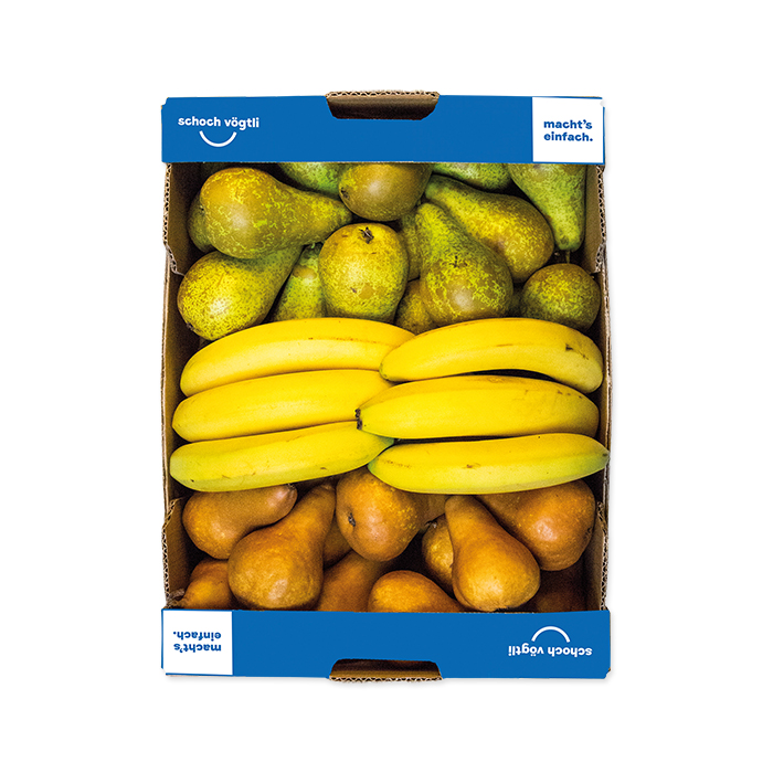 Schoch Vögtli Caisse de 3 fruits poire-banane