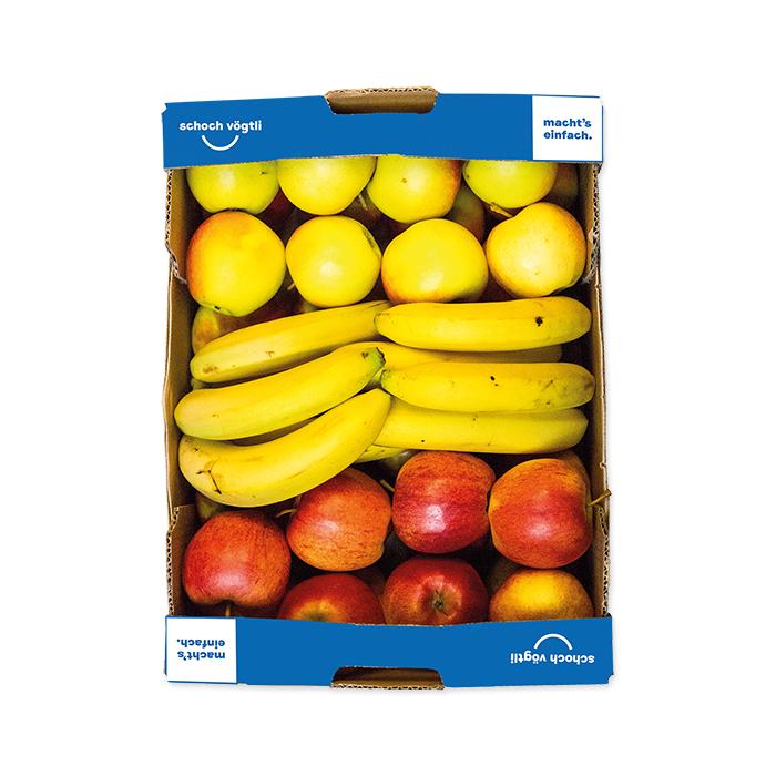 Schoch Vögtli Caisse de 3 fruits pommes-bananes