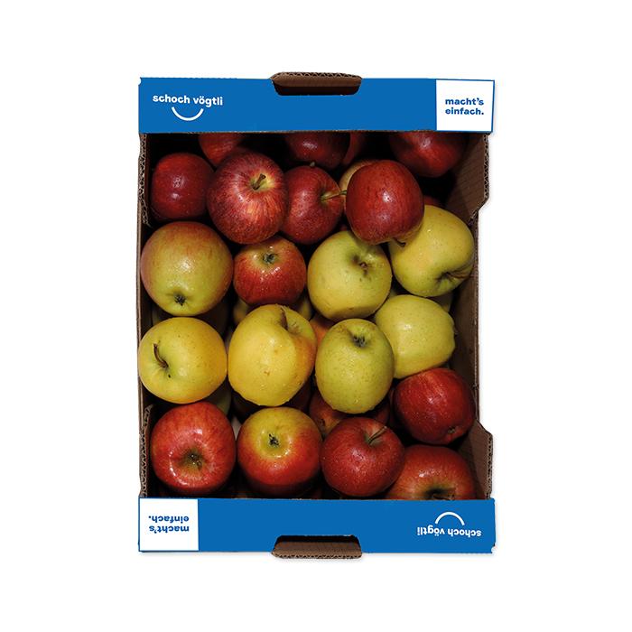 Schoch Vögtli Caisse de pommes bio