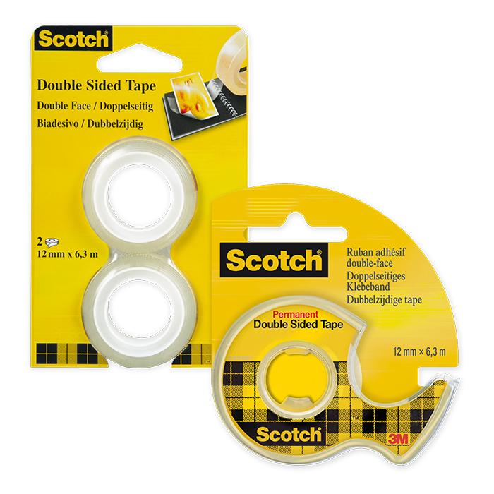 Scotch 136 Handabroller mit 1 Rolle doppelseitiges Klebeband