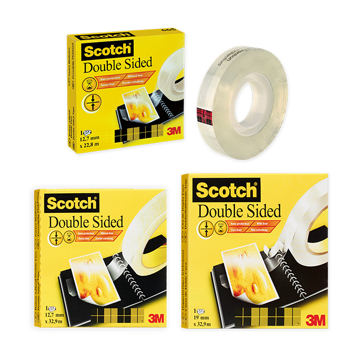 Scotch 665 double-sided Adhesive tape without protective sheet