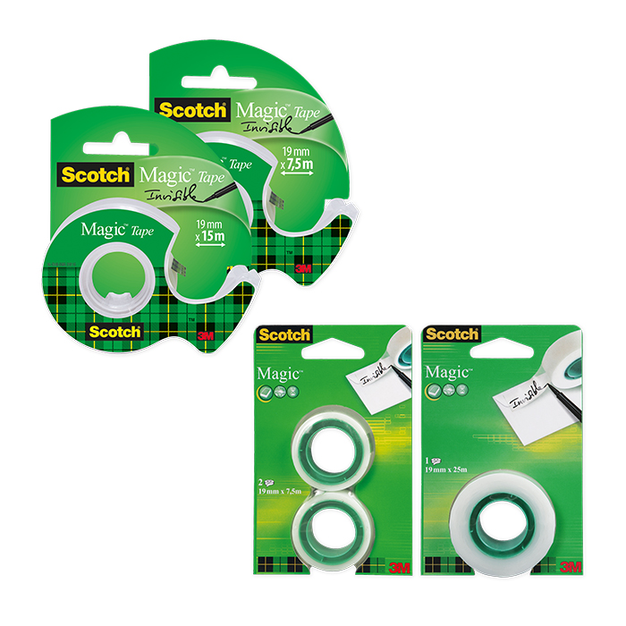 Scotch Magic Tape 810 Handabroller mit 1 Rolle