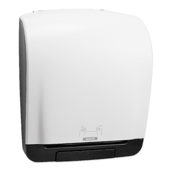 Katrin Inclusive Distributeur d'essuie-main en rouleau blanc, 40,3 x 33,5 x 21,6 cm