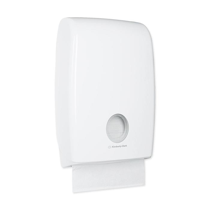 distributeur de serviettes Aquarius Multifold blanc, 45,1 x 29,4 x 12 cm