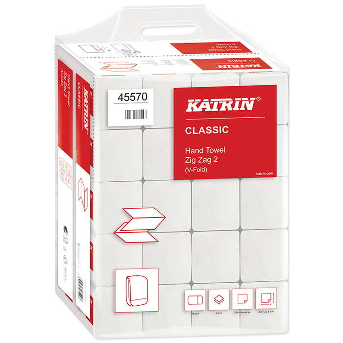 Serviettes pliées Katrin, Classic ZZ