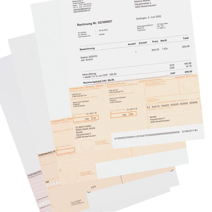 Simplex Rechnungsformular Simfacture