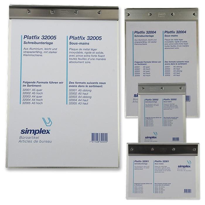 Simplex Schreibplatte Platfix