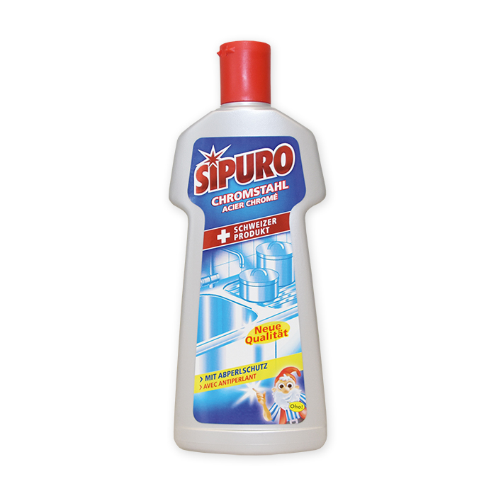 Sipuro Chromed steel cleaning product