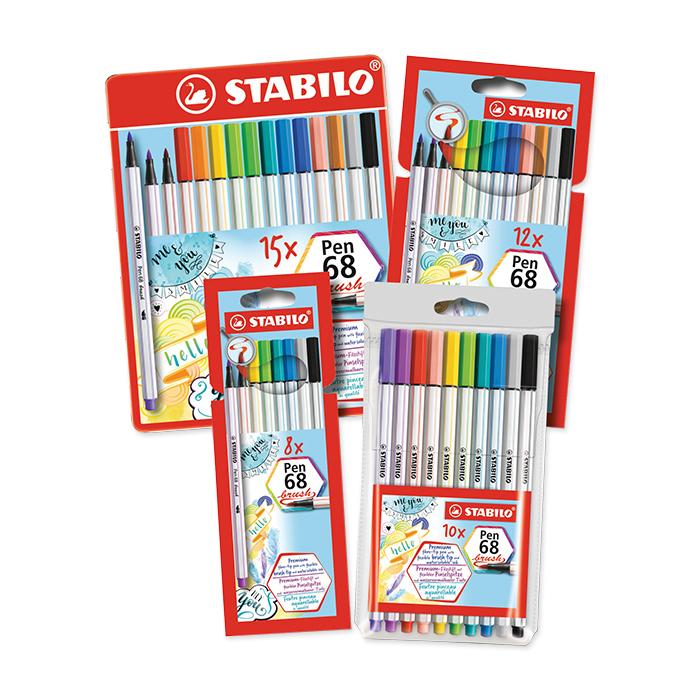 Stabilo Fibre pen 68 brush - Set