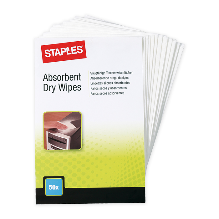 Staples cleaning wipe