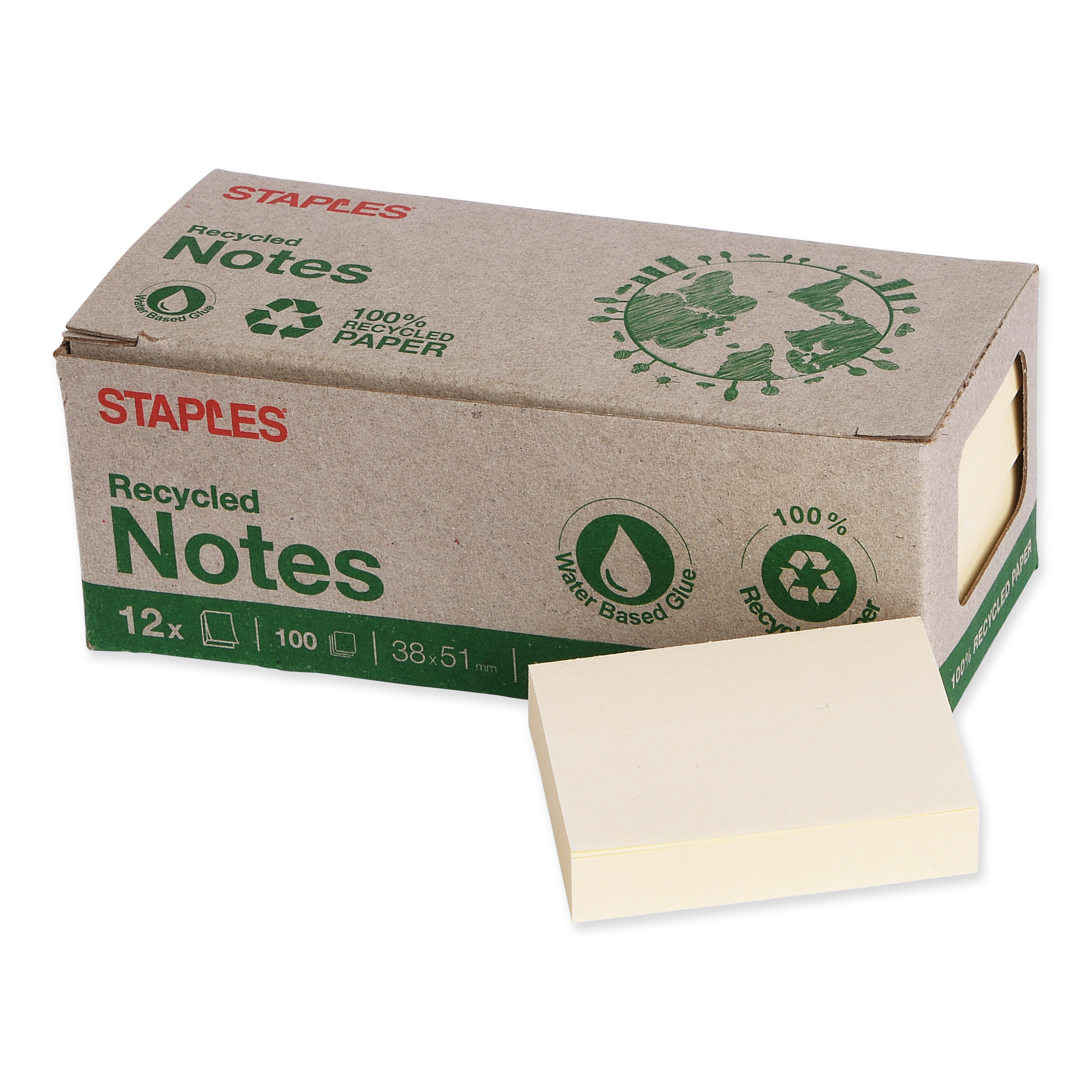 Staples self-adhesive notes recycling