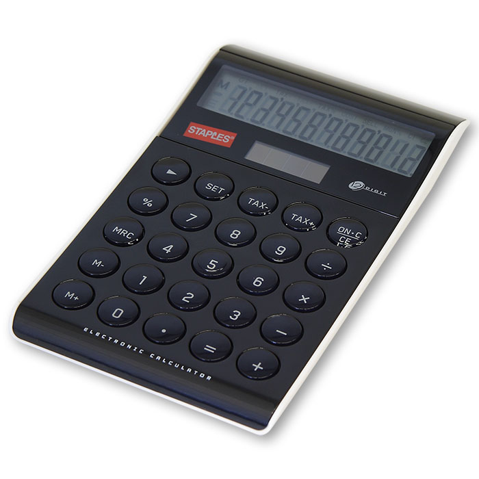staples table calculator design 12 digit black online bestellen