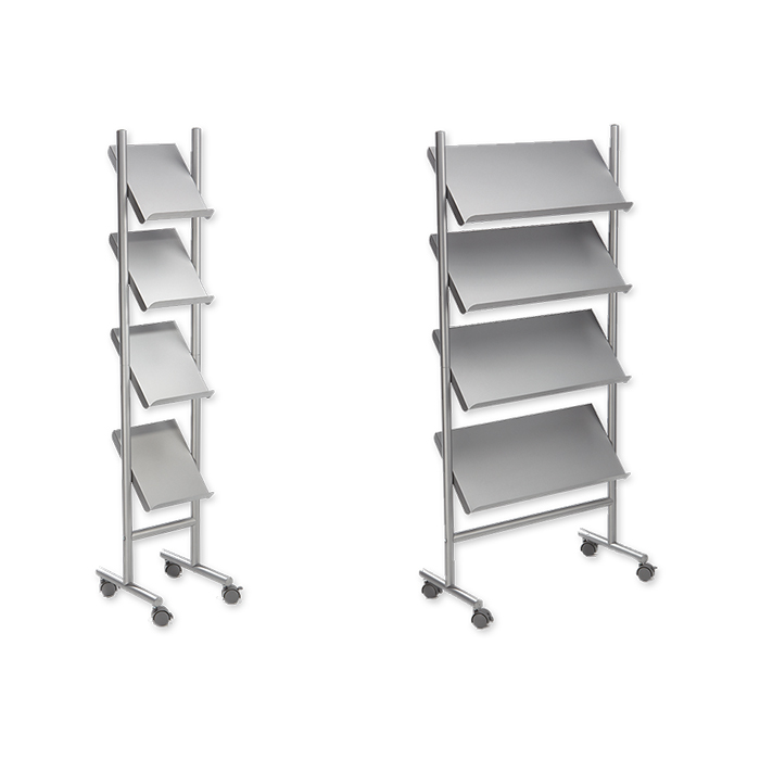 Steel brochure stands