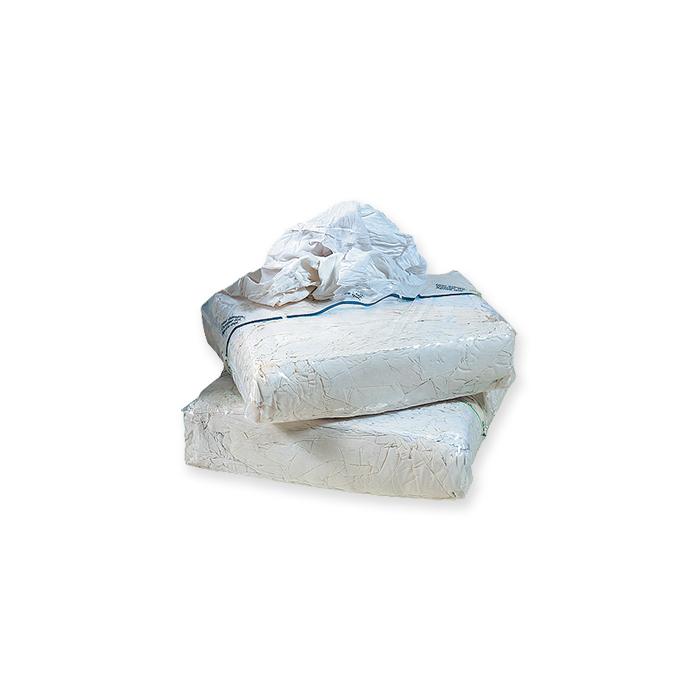 Strofinacci realizzati con lenzuola di colore bianco