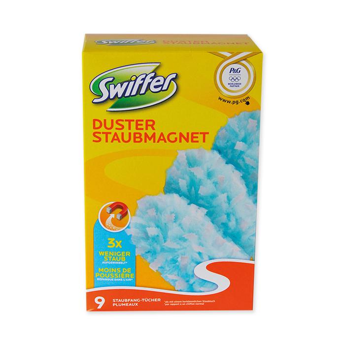 Swiffer aimant à poussière, recharge 9 serviettes