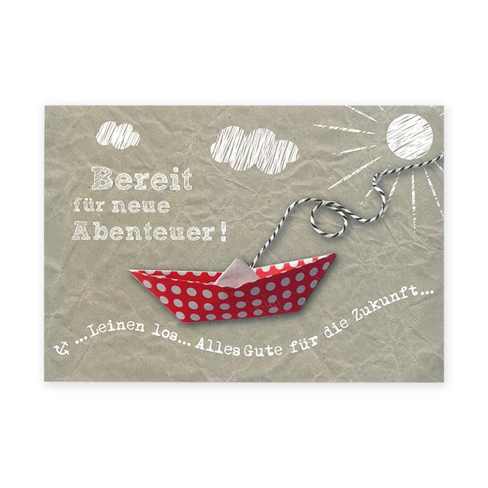 Tomato Abschiedskarte - Papierschiff