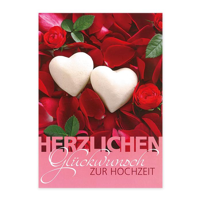Tomato Hochzeitskarte Giganto - Herzen und Rosen